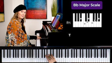 Bb Major 1 Octave Scale by Musical Minds Online