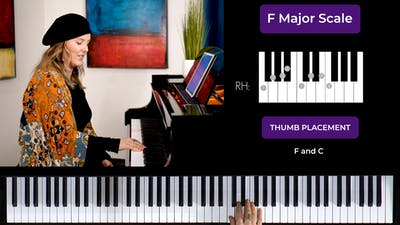 F Major 1 Octave Scale by Musical Minds Online