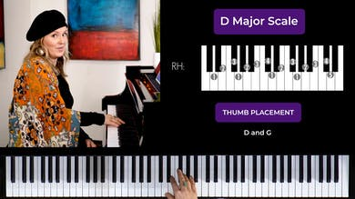 D Major 2 Octave Scale by Musical Minds Online