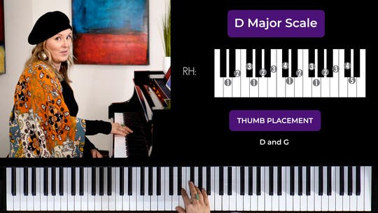 Get access to D Major 2 Octave Scale by Musical Minds Online