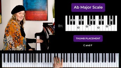 Instant Access to Ab Major 2 Octave Scale by Musical Minds Online, powered by Intelivideo