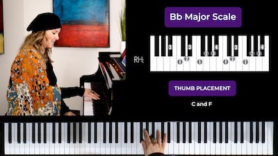 Instant Access to Bb Major 2 Octave Scale by Musical Minds Online, powered by Intelivideo