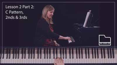 Instant Access to Lesson 2 Part 2: C Pattern, 2nds & 3rds by Musical Minds Online, powered by Intelivideo