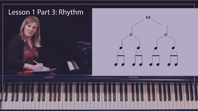 Instant Access to Lesson 1 Part 3: Rhythm by Musical Minds Online, powered by Intelivideo