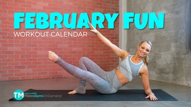 February Fun Challenge by Pilates Barre On Demand