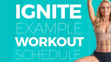 IGNITE | Example Workout Calendar by Pilates Barre On Demand