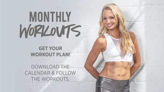 Monthly Workout Plans by Pilates Barre On Demand
