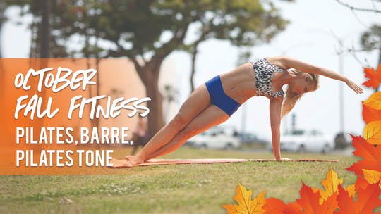October Monthly Program by Pilates Barre On Demand
