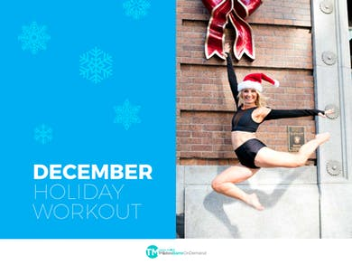 December Calendar by Pilates Barre On Demand