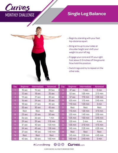 CHALLENGE: SINGLE LEG BALANCE REPS by MyCurves On Demand
