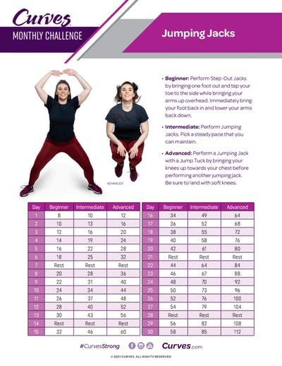 CHALLENGE: JUMPING JACKS REPS by MyCurves On Demand