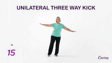 BALANCE: Unilateral Three Way Kick by MyCurvesOnDemand