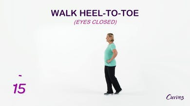 BALANCE: Walk Heel-to-Toe Eyes Closed by MyCurvesOnDemand