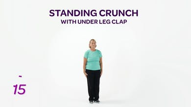 BALANCE: Standing Crunch with Under Leg Clap by MyCurvesOnDemand