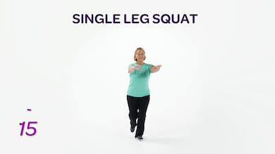 BALANCE: Single Leg Squat by MyCurvesOnDemand