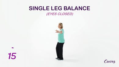 BALANCE: Single Leg Balance Eyes Closed by MyCurvesOnDemand