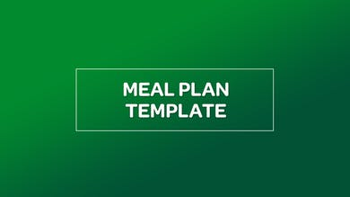 NUTRITION: MEAL PLAN TEMPLATE by MyCurves On Demand