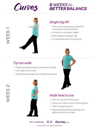 BALANCE: Exercise Descriptions by MyCurvesOnDemand