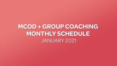 MCOD + GROUP COACHING SCHEDULE - 01 JANUARY 2021 by MyCurves On Demand