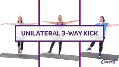 CHALLENGE: UNILATERAL 3-WAY KICK by MyCurves On Demand
