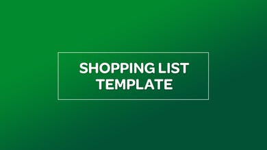 NUTRITION: SHOPPING LIST TEMPLATE by MyCurves On Demand