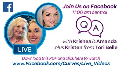 VDOF: FACEBOOK LIVE WITH KRISTEN FROM TORI BELLE - Download and Click to View by MyCurves On Demand