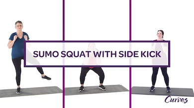 CHALLENGE: SUMO SQUAT SIDE KICK by MyCurves On Demand