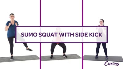 CHALLENGE: SUMO SQUAT SIDE KICK by MyCurvesOnDemand