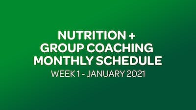 NUTRITION + GROUP COACHING SCHEDULE WEEK 1 - 01 JANUARY 2021 by MyCurves On Demand