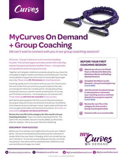 MCOD + GROUP COACHING INFO SHEET by MyCurves On Demand
