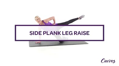 CHALLENGE: SIDE PLANK LEG RAISE by MyCurves On Demand