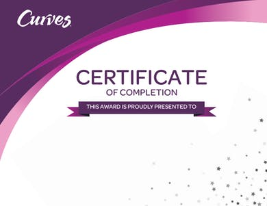 CERTIFICATE OF COMPLETION by MyCurvesOnDemand