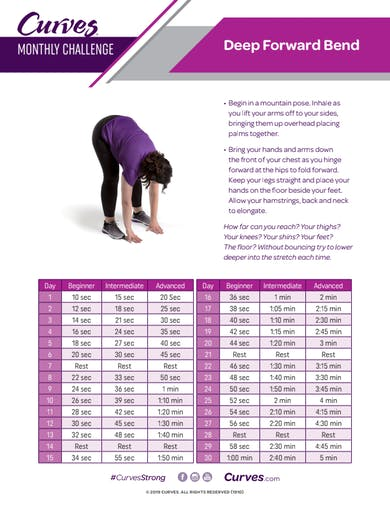 CHALLENGE: DEEP FORWARD BEND REPS by MyCurves On Demand