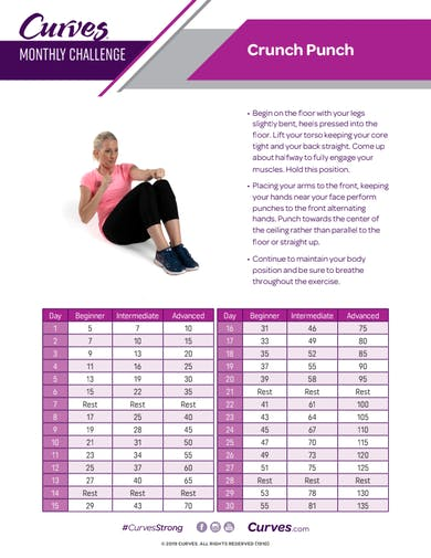 CHALLENGE: CRUNCH PUNCH REPS by MyCurves On Demand