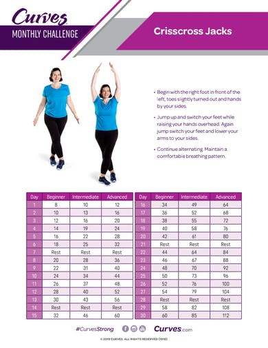 CHALLENGE: CRISSCROSS JACKS REPS by MyCurves On Demand