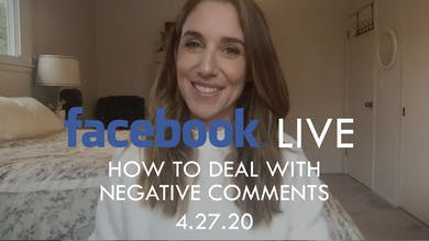 [FACEBOOK LIVE] How To Deal With Negative Comments - 4/27/20 by The Movement