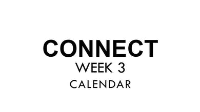 [CONNECT] Week 3 - Calendar by The Movement