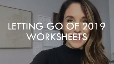 [WORKSHEETS] Letting Go of 2019 by The Movement