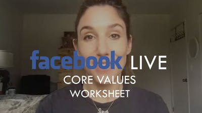 [WORKSHEETS] Live Workshop - Core Values by The Movement