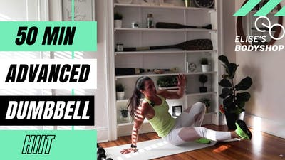 LIVE 50 MIN HIIT CLASS 2.0 - EQUIP: DUMBBELLS OPTIONAL - LEVEL: ADVANCED by Elise's Bodyshop