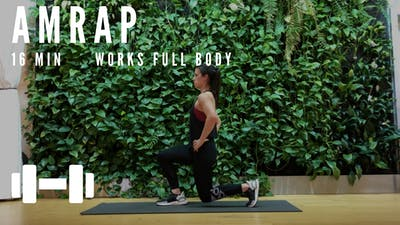 AMRAP FULL BODY 7.0 (PWRD: DAY 6) - EQUIP: DUMBBELLS - LEVEL: ADVANCED by Elise's Bodyshop