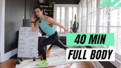 LIVE 40 MIN FULL BODY WORKOUT - EQUIP: BODYWEIGHT OPTIONS - LEVEL: INTERMEDIATE by Elise's Bodyshop