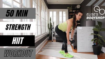 LIVE 50 MIN STRENGTH X HIIT 15.0 - EQUIP: DUMBBELLS - LEVEL: ADVANCED by Elise's Bodyshop