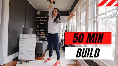 LIVE 50 MIN BUILD 3.0 - EQUIP: DUMBBELLS - LEVEL: ADVANCED by Elise's Bodyshop