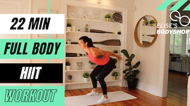 LIVE 22 MIN BODYWEIGHT HIIT - EQUIP: BODYWEIGHT - LEVEL INTERMEDIATE by Elise's Bodyshop