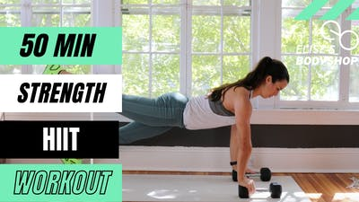 LIVE 50 MIN STRENGTH X HIIT CLASS 10.0 - EQUIP: DUMBBELLS - LEVEL: ADVANCED by Elise's Bodyshop