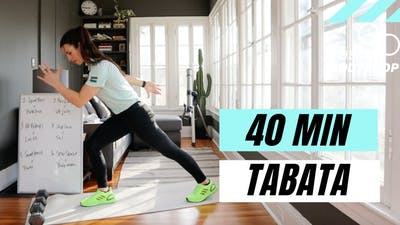 LIVE 40 MIN FULL BODY TABATA WORKOUT - EQUIP: DUMBBELLS OPTIONAL - LEVEL: INTERMEDIATE by Elise's Bodyshop