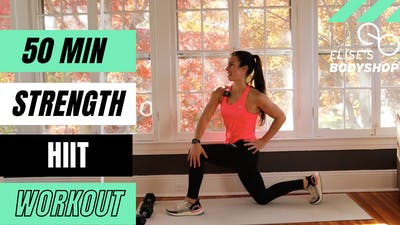 LIVE 50 MIN STRENGTH X HIIT 12.0 - EQUIP: DUMBBELLS - LEVEL: ADVANCED by Elise's Bodyshop