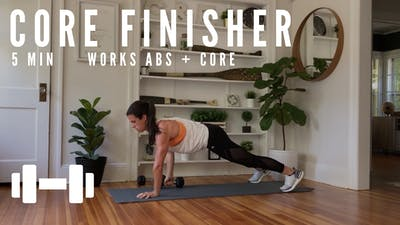 DUMBBELL CORE FINISHER 1.0 - LEVEL: INTERMEDIATE by Elise's Bodyshop