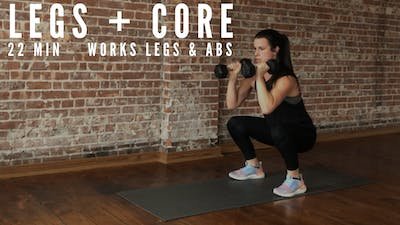 AMRAP LEGS + CORE 1.0 - EQUIP: DUMBBELLS - LEVEL: MEDIUM by Elise's Bodyshop